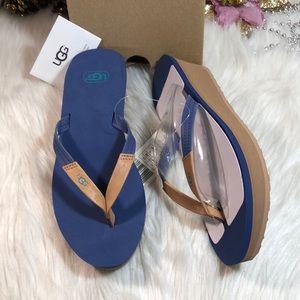 Ugg Ruby Wedge Flip-Flop Sandals 8